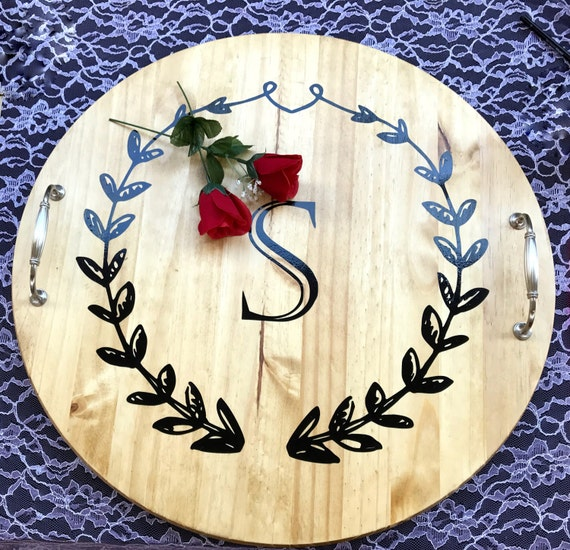 serving trays personalized serving tray wood lazy susan