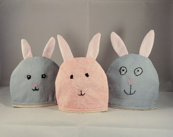Easter bunny egg cosies