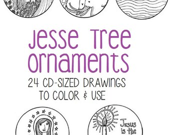 Jesse Tree Ornaments for Advent