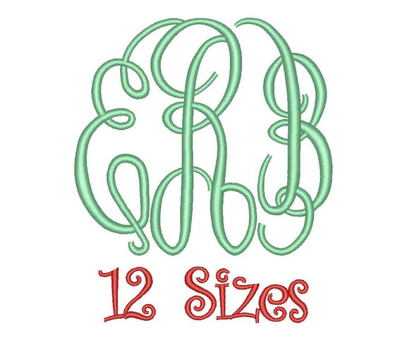 Sale master circle monogram embroidery font sizes