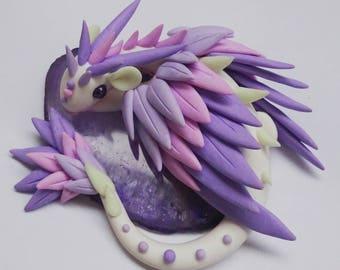 Purple Dragon agate slice
