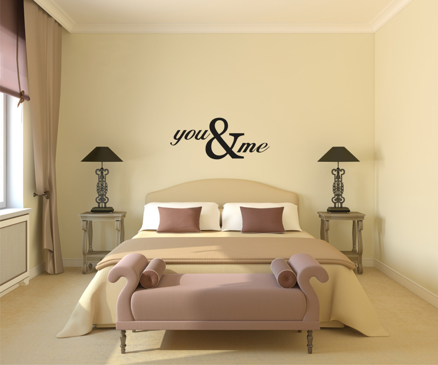 You & Me Vinyl Wall Decal Love Vinyl Wall Decal You and