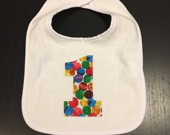 Very Hungry Caterpillar First Birthday Bib (NO BOWTIE)