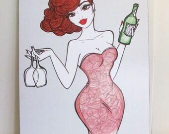 Scarlet - Illustration by Brenda Dunn from Portland, OR