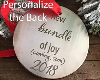 New Bundle of Joy Christmas Pregnancy Announcement Ornament Holiday Pregnancy Announcement Ornament Pregnancy Announcement Christmas