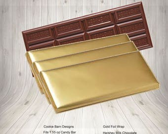 Gold Foil Candy Bar Wrappers, Gold Foil Wrappers, Gold Foil, Candy Bar Wrapper Foil, Candy Bar Wrappers