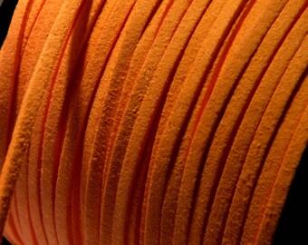 1 M cord - orange bright 3 mm X 1.5 mm - No. 91