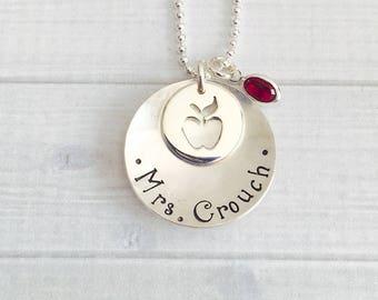 Teacher Necklace - Personalized Teacher's Jewelry - Teacher Appreciation Gift - Teacher Gift - Custom Teacher Gift