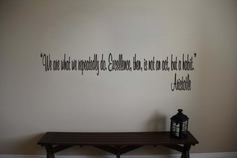 Aristotle Inspirational Teacher Classroom Quote Vinyl Wall - Custom vinyl wall decals for classrooms