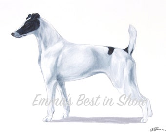 Smooth Fox Terrier Dog - Archival Fine Art Print - AKC Best in Show Champion - Breed Standard - Terrier Group - Original Art Print