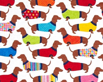 Dachshunds in Sweaters from Timeless Treasures