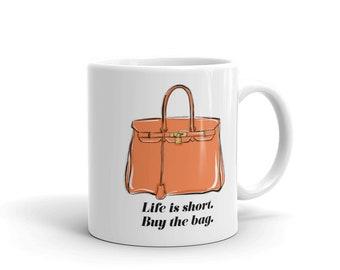 Handbag Lover Coffee Mug, Cute Coffee Mug