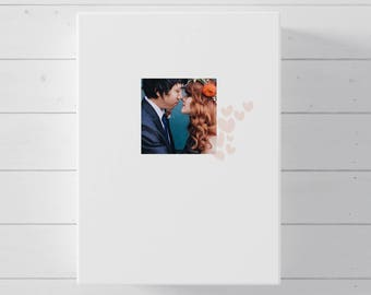 Wedding Guest Book Alternative, Photo Canvas Guest Book for Wedding