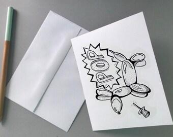 Balloon Dog Print (Note Card)