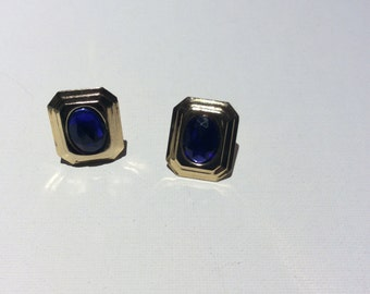 Vintage Fun Blue Earrings
