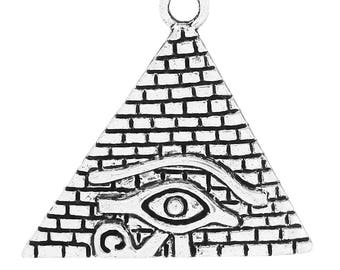 Silver-plated 3.1 cm x2.9cm Egyptian triangle charm