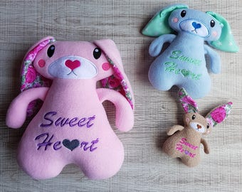 Sweetheart Bunny ITH Embroidery Pattern