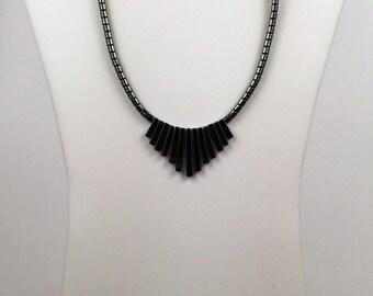 Vintage Gray Metallic Necklace