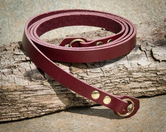 Rich Burgundy Leather Camera Strap