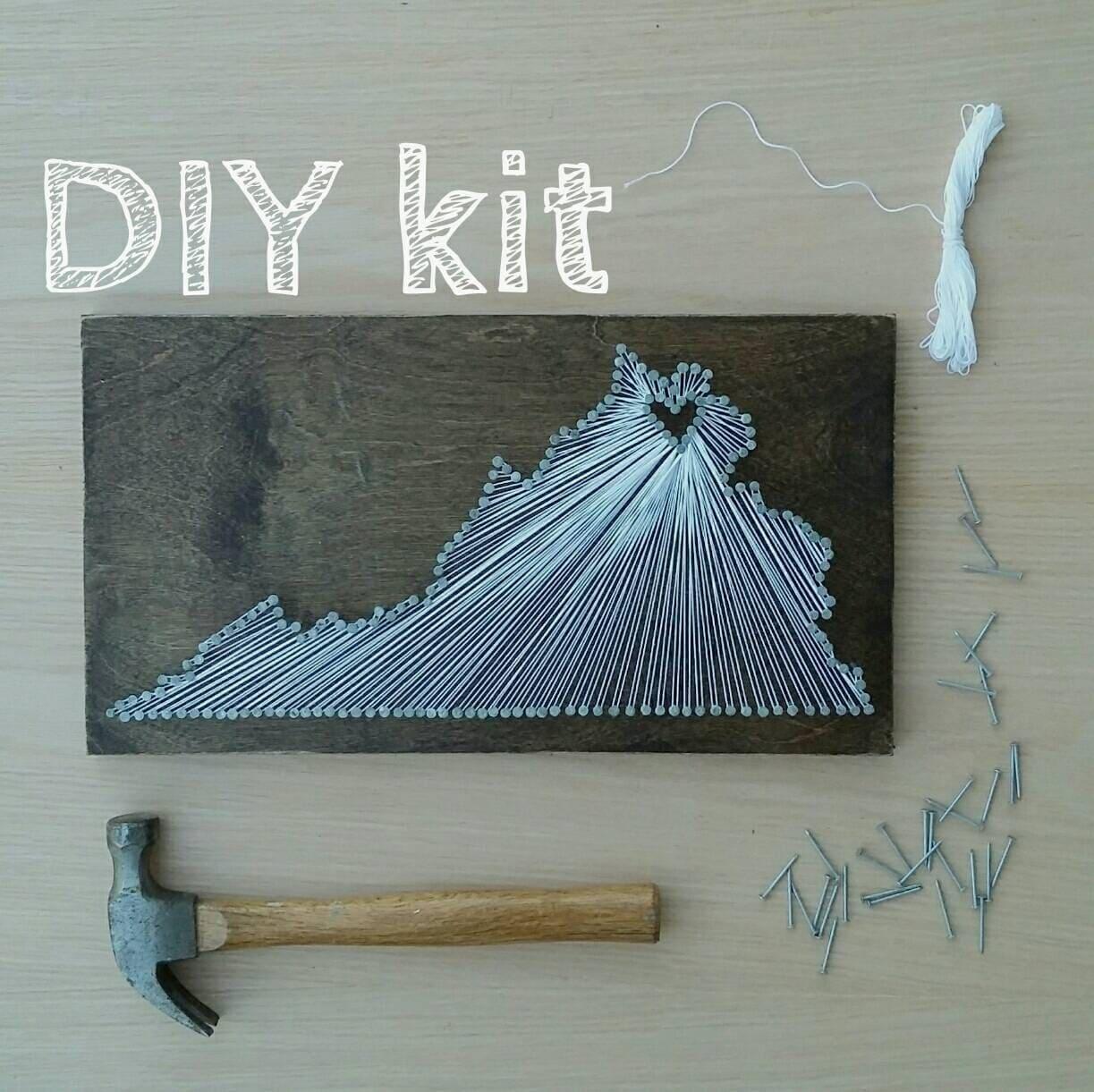 DIY Virginia String Art Kit State string Art Kit Virginia