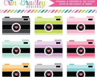 80% OFF SALE Striped Cameras Clip Art Clipart Photography Graphics for Personal & Commercial Use