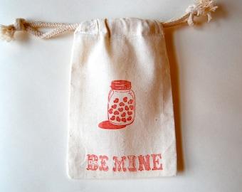 Mason Jar Party Bag / Set of 10 / Class Party Favor Bag / Wedding Favor Bag / Valentine's Day Favor