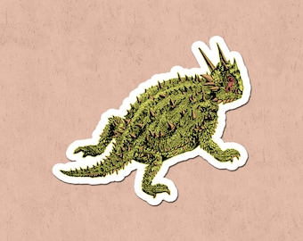 Horned Lizard Magnet | Reptile Fridge Magnet | Biology Magnet |  Herpetology Magnet | Science Magnet | Nature Lover Gift | Natural History