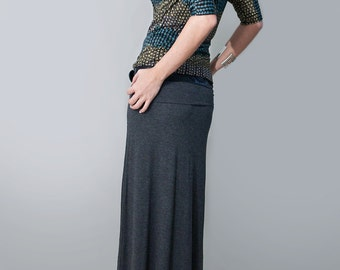 Maxi Skirt | Long Women's Skirt | Tall or Petite Length | Minimalist Bohemian | Made in our USA loft | L415 & Co Clothing (# 415-100)