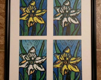 Four Daffodil Prints