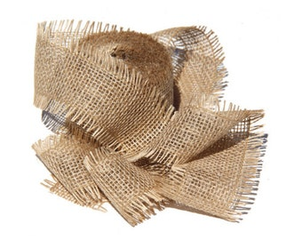 """2.5"""" Burlap Jute Ribbon for Gift Wrapping Ideas and Christmas Decorations"""