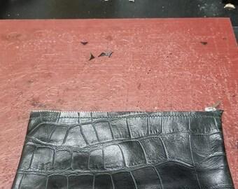 Black zippered Clutch
