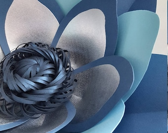 Paper Flower Template and Base  PDF with SVG file for loopy centre (as in photo) #63