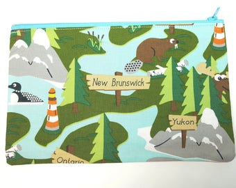 New Brunswick Fabric Pouch // Canada Pouch