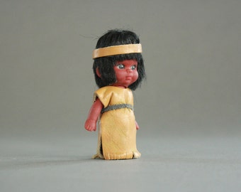 Native American Doll with Leather Dress