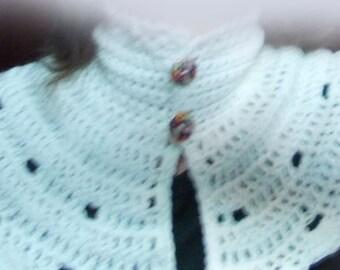 Crochet NeckWarmer, scarf,wool 100% pure