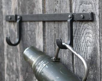 Coat Hook Set, Craftsman Wall Hooks, Industrial Wall Hook, Rustic Coat Hooks, Rustic Wall Hooks, Blacksmith Hooks, Cabin Hooks, Metal Hooks