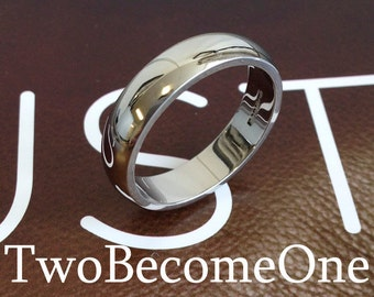 5mm Mens Platinum D Shape Handmade Wedding Ring / Band / 5.4g