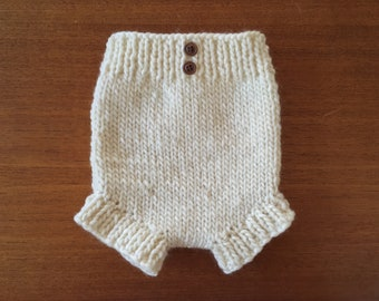 Hand-knit Baby Bloomer