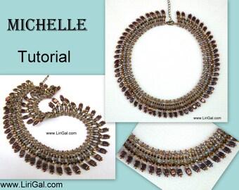 Tutorial Michelle SuperDuo Tile Necklace PDF