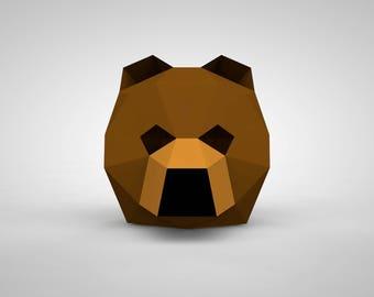 Bear Mask   Paper Mask   Papercraft 3D DIY Kit