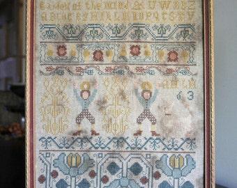 1763 Band Sampler : Cross Stitch Pattern by Heartstring Samplery