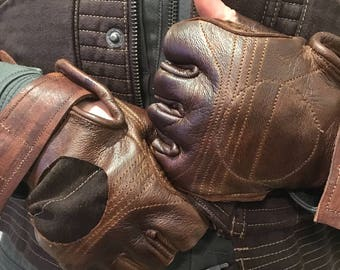 Custom Jyn Erso Rogue One Leather Gloves