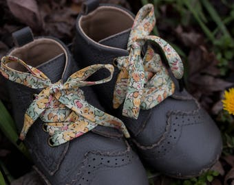 LIBERTY PRINT SHOELACES in adult and children's sizes - Claire Aude