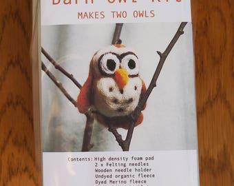 Needlefelted Barn Owl Kit