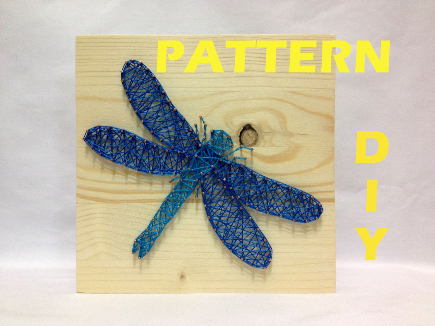 DIY String Art Pattern Dragonfly Pattern and Instructions