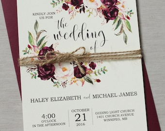 Wedding Invitations Etsy IN