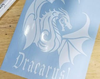 Dragon, Dracarys  Car Decal • Laptop Decal • Pick your size! Pick your color!