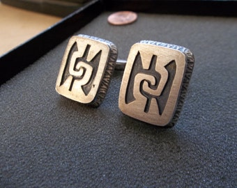 Vintage Sterling silver Cuff links from Mexico