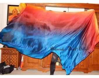 "Sahariah's Silk Belly Dance Veil Rectangle original ""Killer Silk"" 3 Yard Rectangle Veil Tribal Silks by Sahariah SALE"