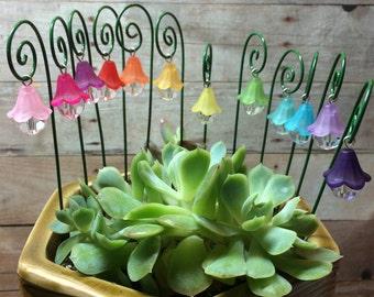 Accesorios jardín de miniatura de linterna de jardín de hadas juego de 3 con pastores gancho terrario té hadas miniatura